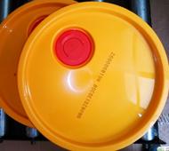 银玛标识化工桶盖喷码效果